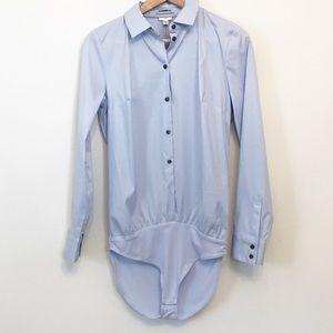 NWT Express Essential Bodysuit Blouse Light Blue M